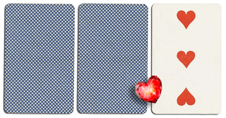 03 of hearts meaning french deck