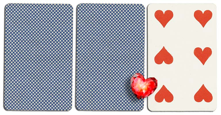 06 of hearts meaning french deck