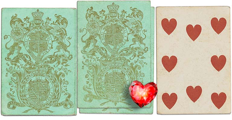 Eight of hearts English Cartomancy meaning