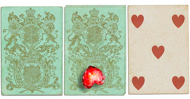 Five of hearts English Cartomancy meaning