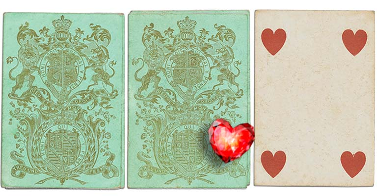 Four of hearts English Cartomancy meaning