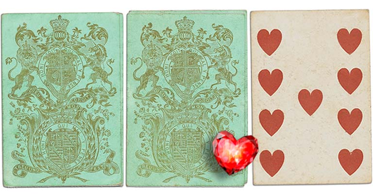Nine of hearts English Cartomancy meaning