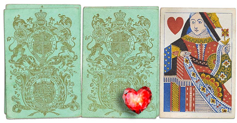 Queen of hearts English Cartomancy meaning