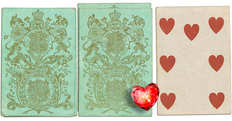 Seven of hearts English Cartomancy meaning