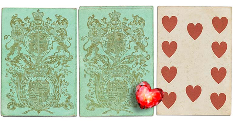Ten of hearts English Cartomancy meaning