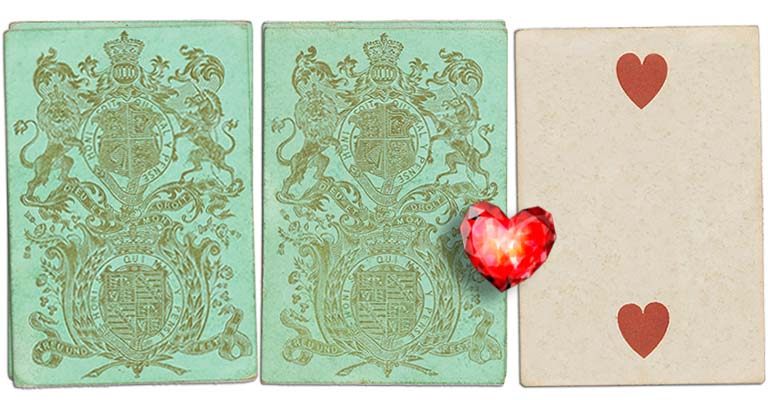 Two of hearts English Cartomancy meaning