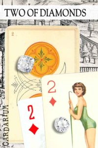 2 of Diamonds meaning in Cartomancy and Tarot