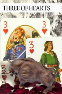 3 of Hearts meaning in Cartomancy and Tarot
