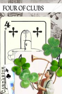 4 of Clubs meaning in Cartomancy and Tarot