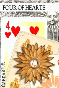 4 of Hearts meaning in Cartomancy and Tarot