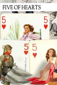 5 of Hearts meaning in Cartomancy and Tarot