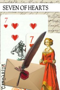 7 of Hearts meaning in Cartomancy and Tarot