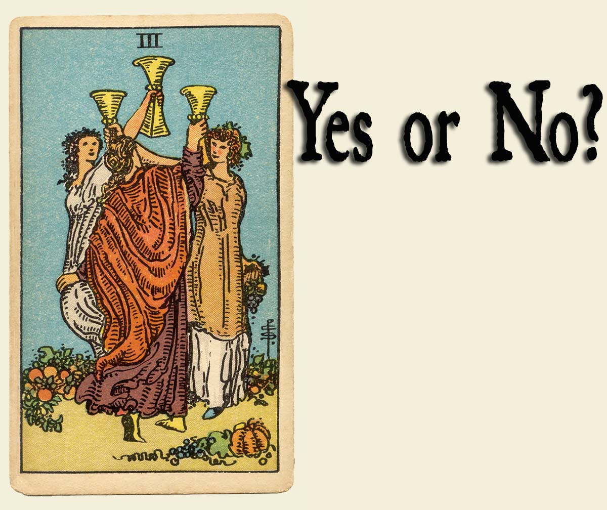 3 of Cups – Yes or No?
