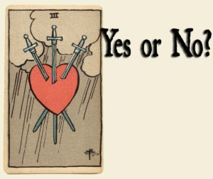 Read more about the article 3 of Swords – Yes or No?