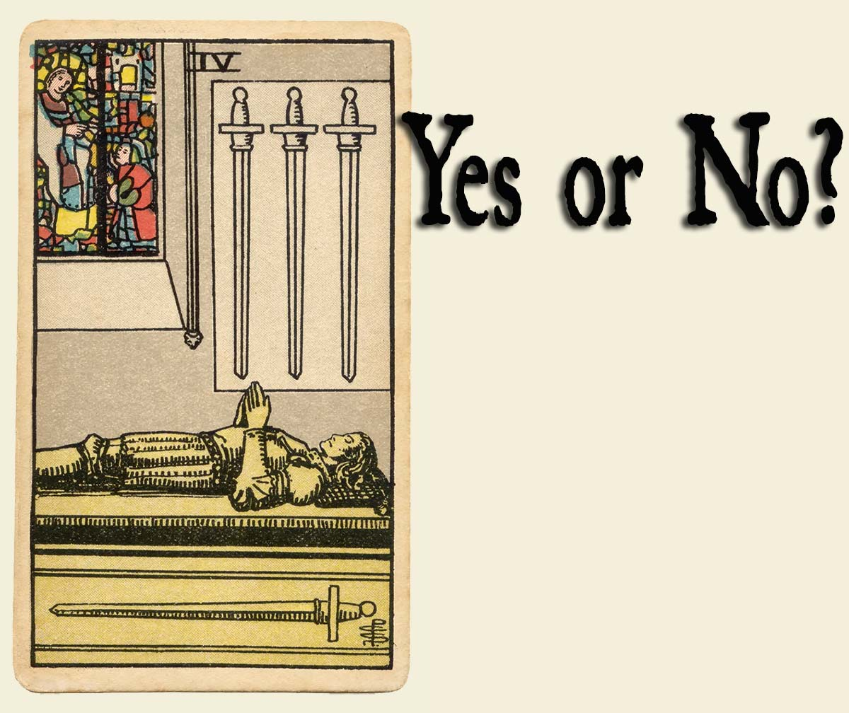 You are currently viewing 4 of Swords – Yes or No?