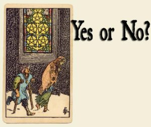 Read more about the article 5 of Pentacles – Yes or No?