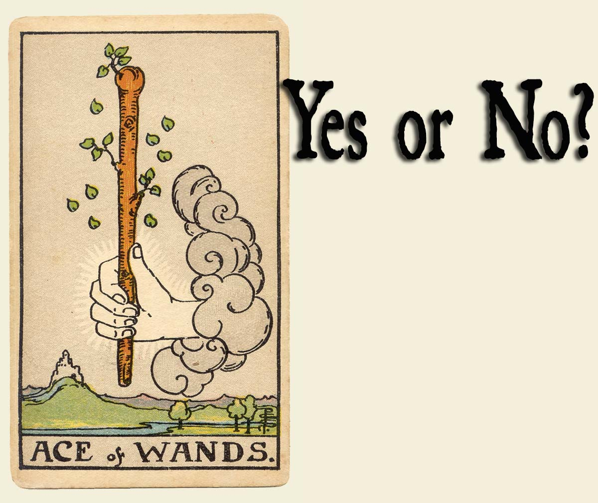 You are currently viewing Ace of Wands – Yes or No?