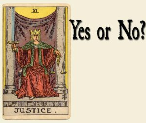 Justice Tarot Card – Yes or No?