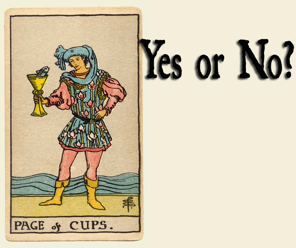 Page of Cups – Yes or No?