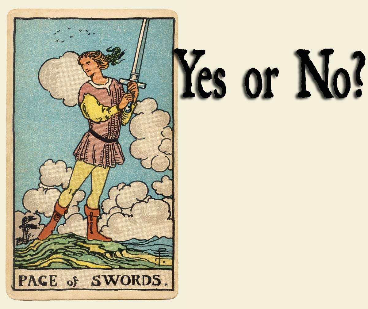 Page of Swords – Yes or No?
