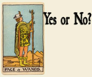 Read more about the article Page of Wands Tarot Card – Yes or No?