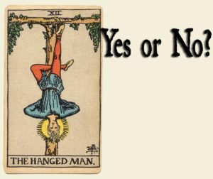 Read more about the article The Hanged Man Tarot Card – Yes or No?