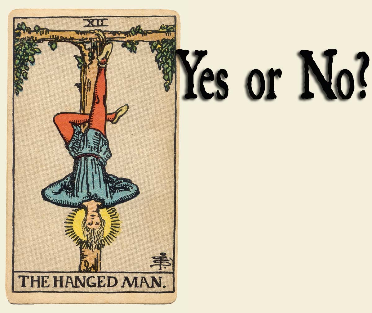 The Hanged Man Tarot Card – Yes or No?