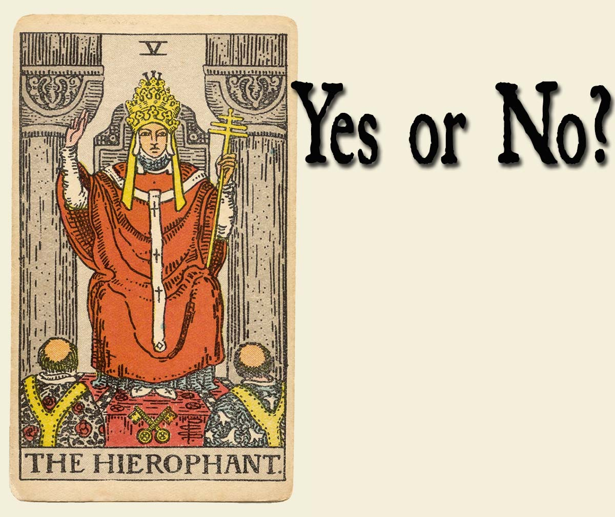The Hierophant Tarot Card– Yes or No?