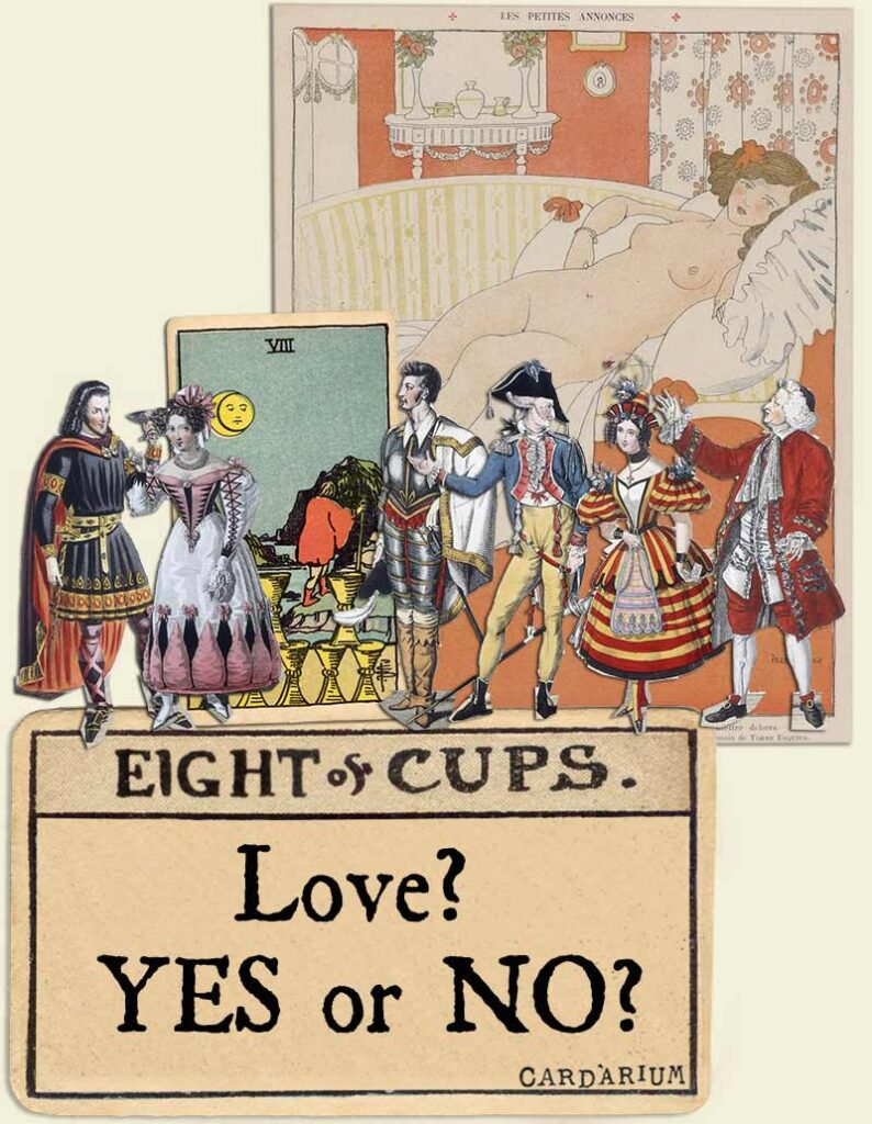 love yes or no eight of cups