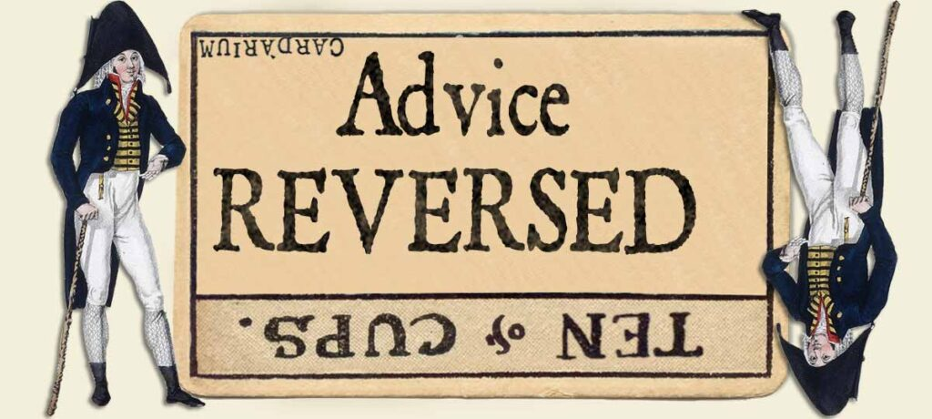 10 of cups reversed advice yes or no