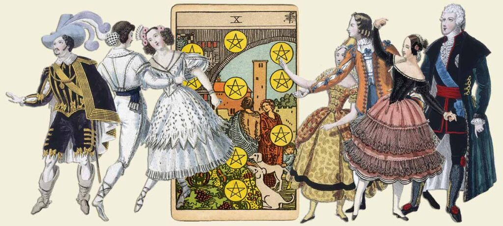 10 of pentacles tarot card meaning yes or no