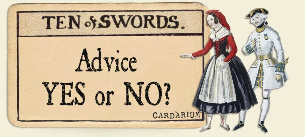 10 of swords Advice Yes or No