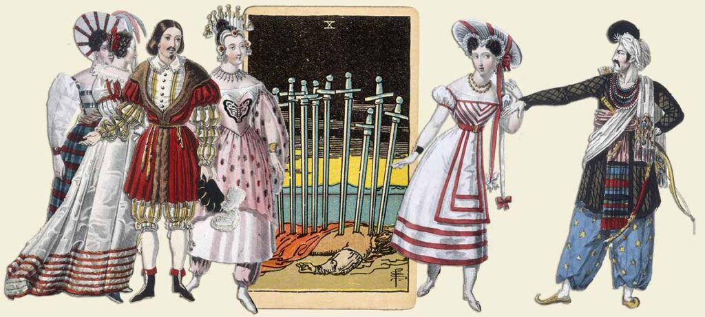 10 of swords tarot card meaning yes or no