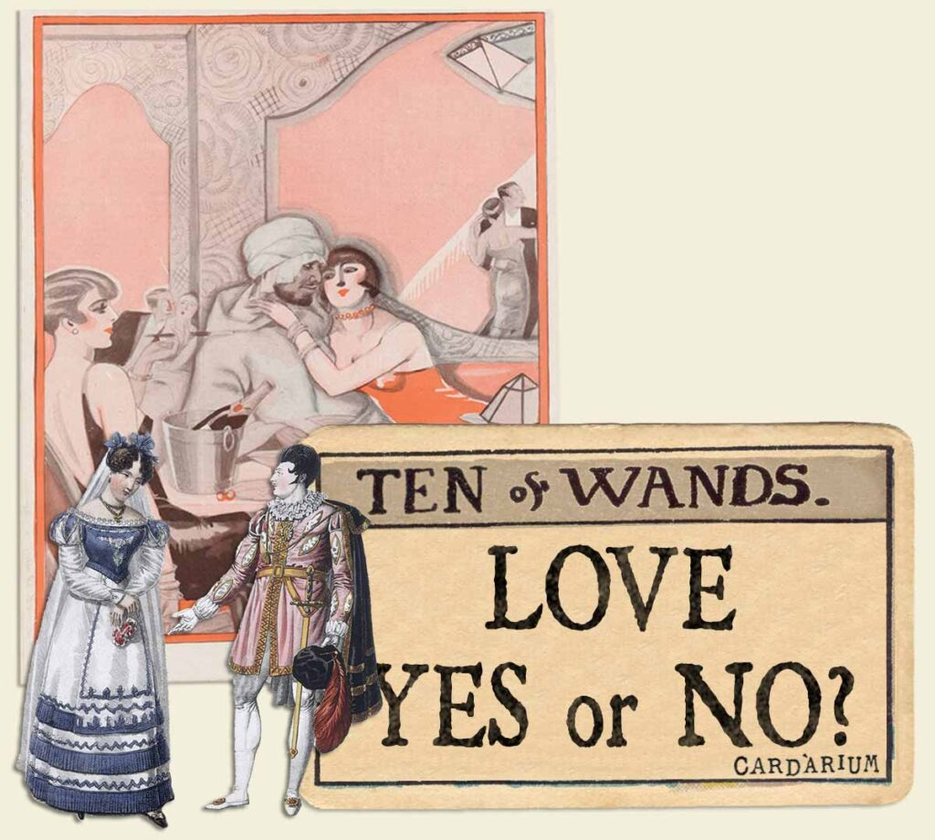 10 of wands tarot card meaning for love yes or no