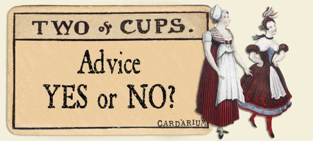 2 of cups Advice Yes or No