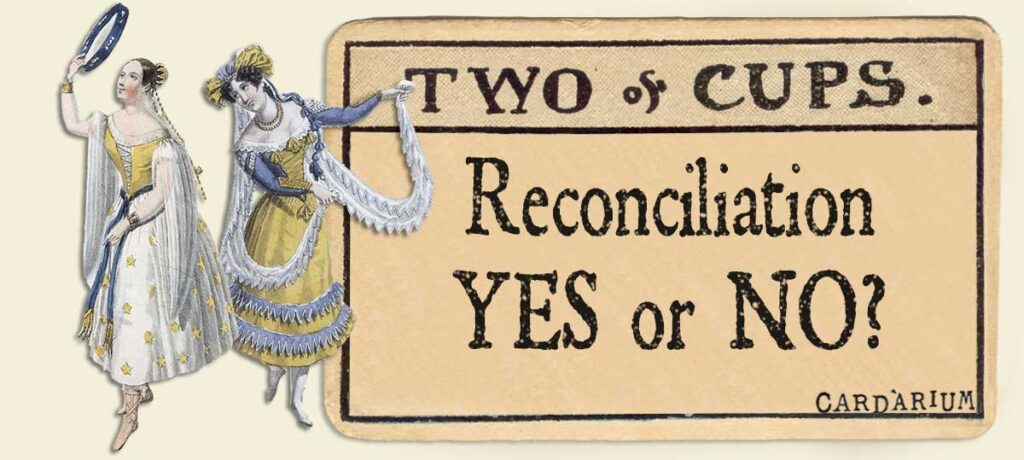 2 of cups reconciliation yes or no
