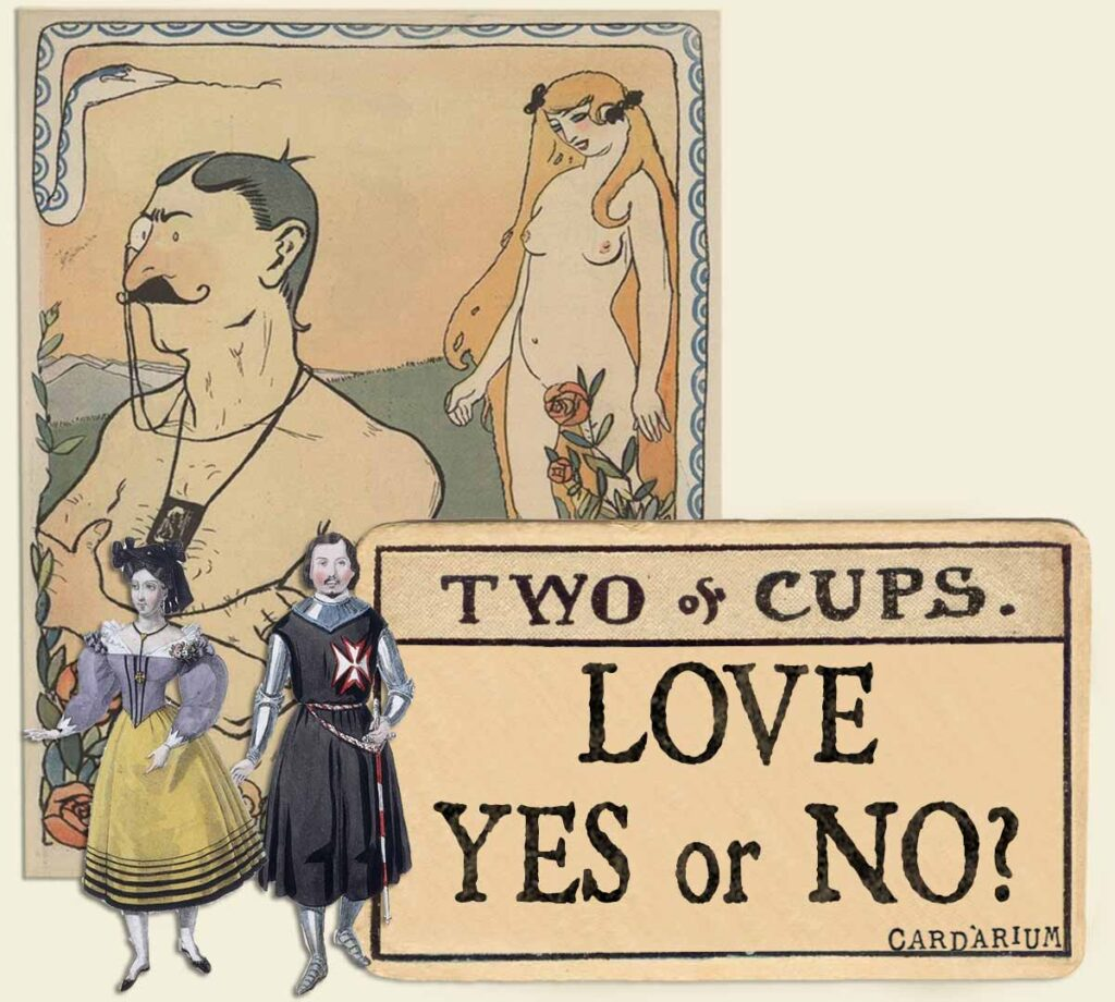 2 of cups tarot card meaning for love yes or no