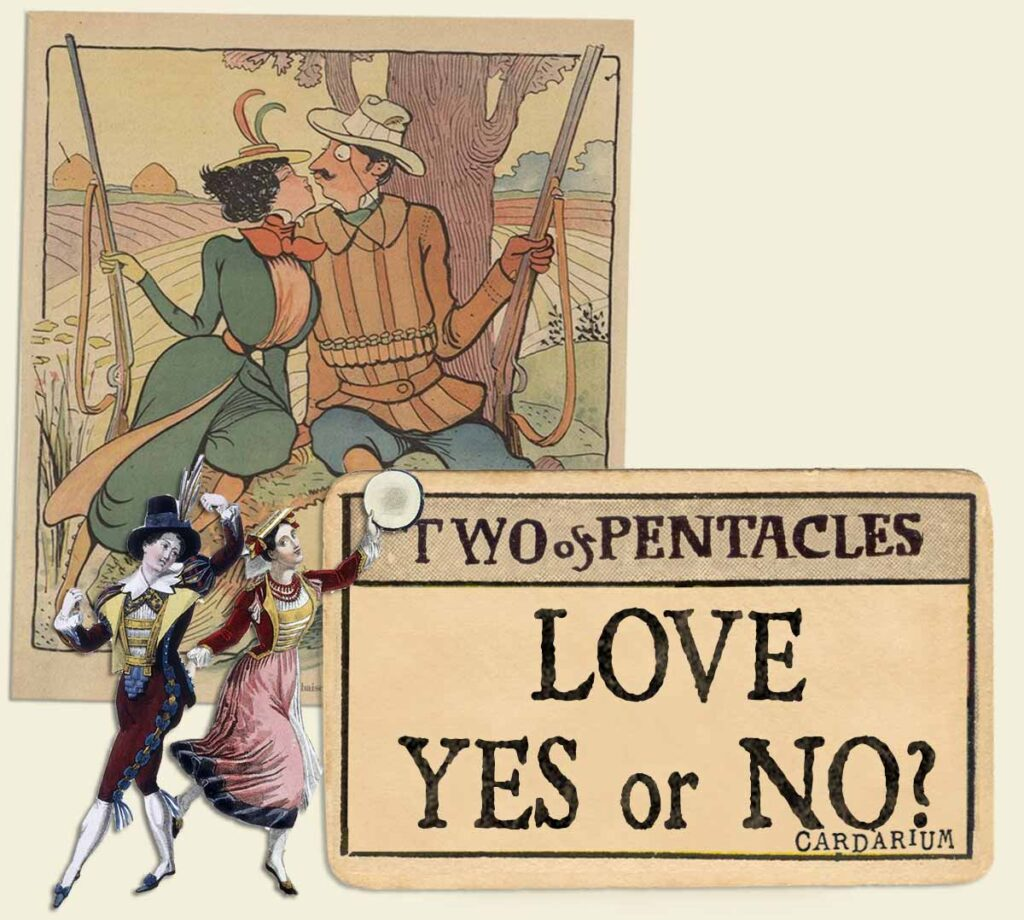 2 of pentacles tarot card meaning for love yes or no
