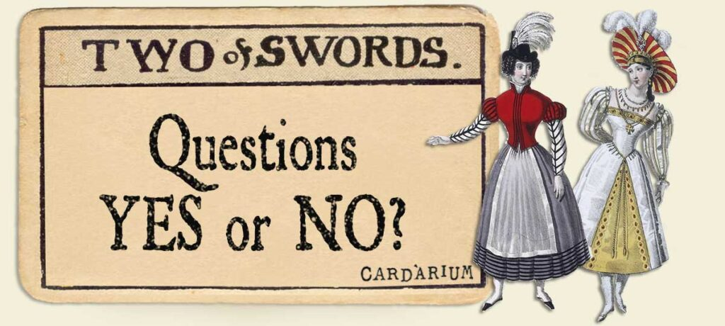 2 of swords Yes or No Questions