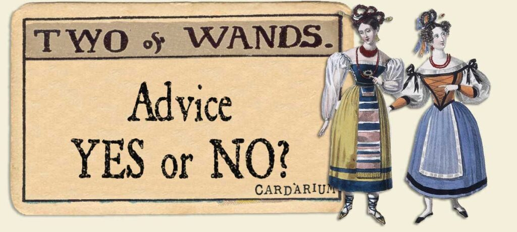 2 of wands Advice Yes or No