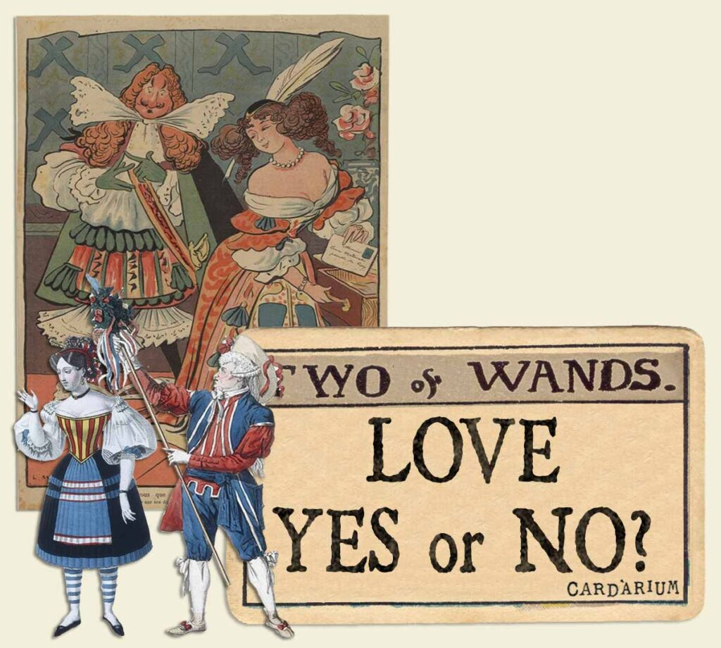 2 of wands tarot card meaning for love yes or no
