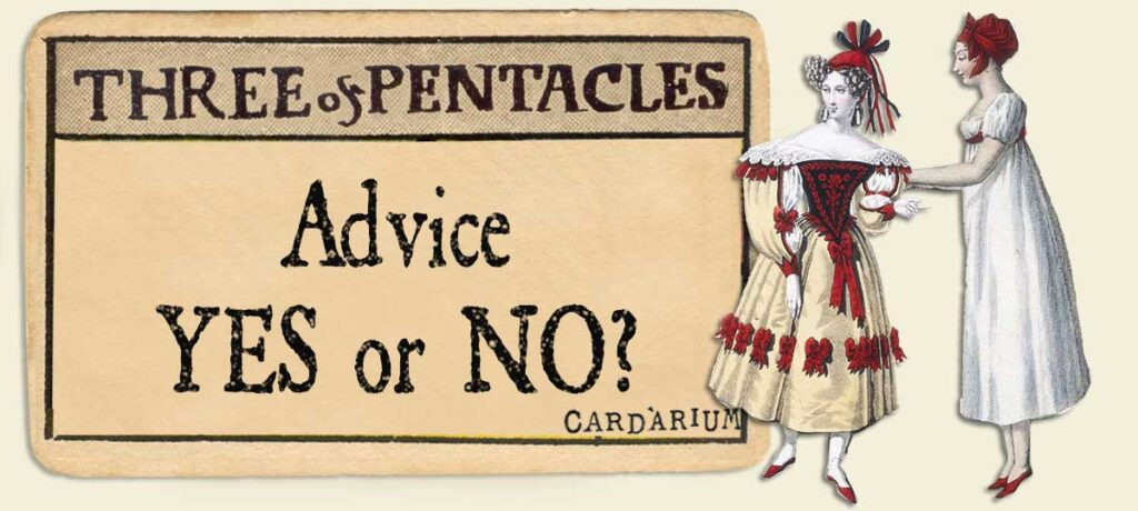 3 of pentacles Advice Yes or No