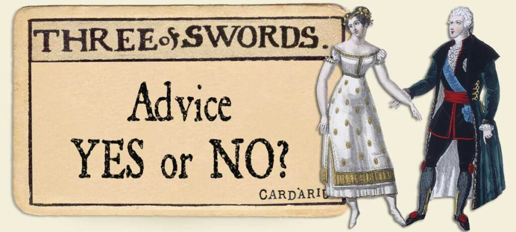 3 of swords Advice Yes or No