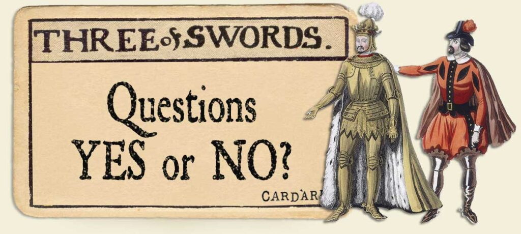 3 of swords Yes or No Questions