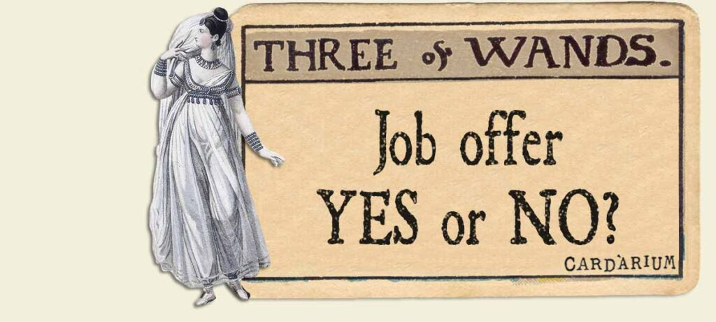 3 of wands job offer yes or no