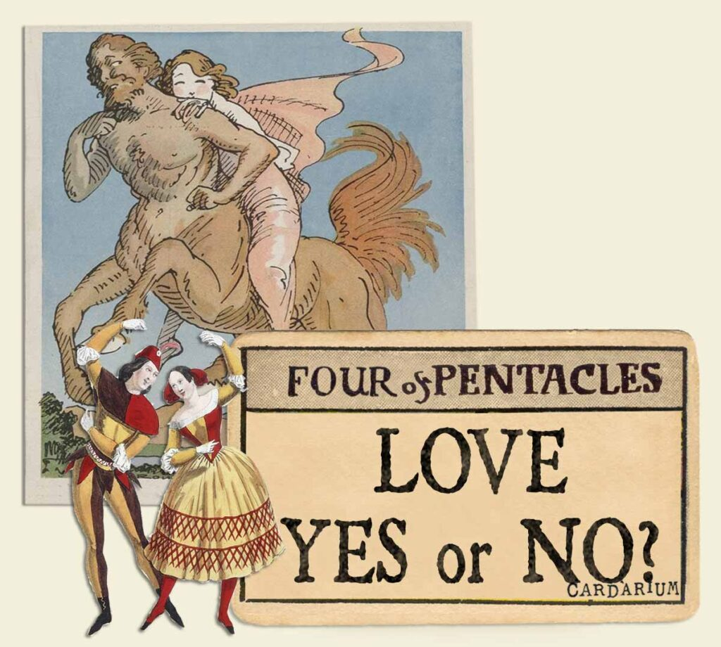 4 of pentacles tarot card meaning for love yes or no