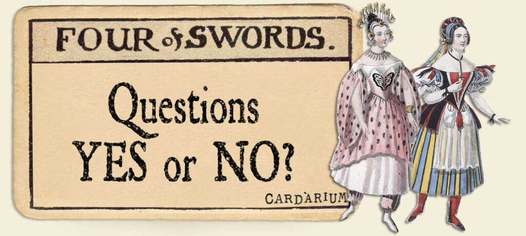 4 of swords Yes or No Questions