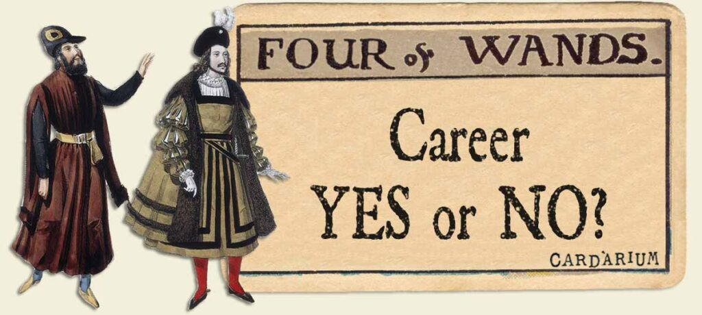 4 of wands career yes or no
