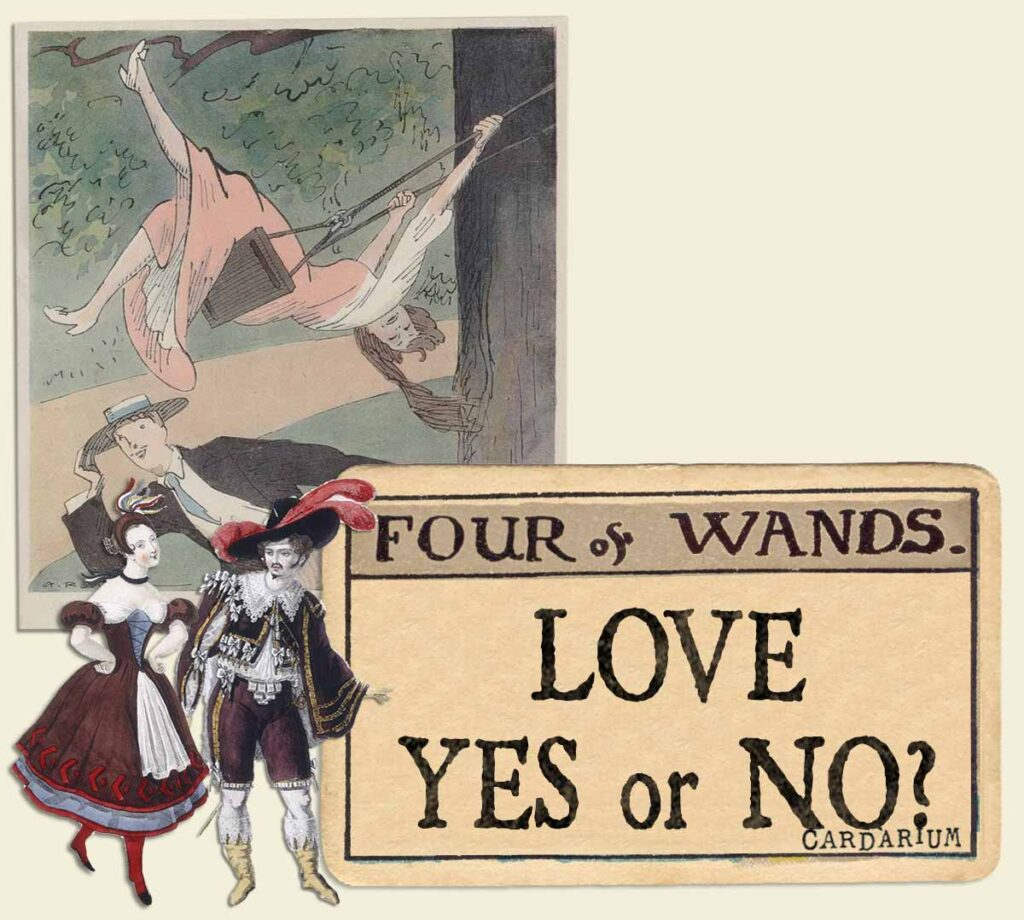 4 of wands tarot card meaning for love yes or no