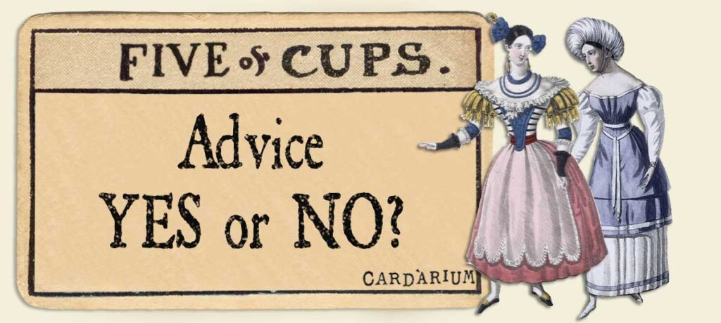 5 of cups Advice Yes or No